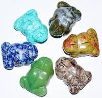 Сувенир Лягушка из натурального камня, в ассортименте (6 шт) 5_20_168