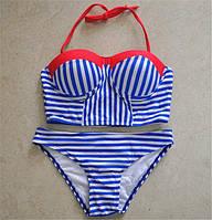 Женский купальник  в полоску, фото 1