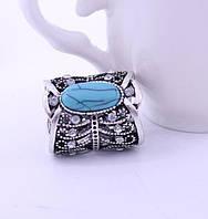 Кольцо для платков  серебристое