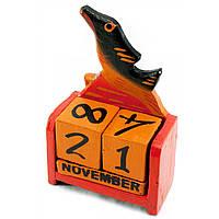 Календарь настольный Рыба дерево красная 15х10х5 см