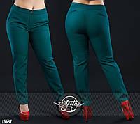 Стильные брюки с карманами бутылочные