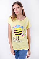 Веселая женская футболка с рисунком модная пчела