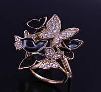 Кольцо для платков  бабочки в камнях