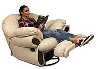 Кожаное кресло реклайнер Orlando, кресло с реклайнером, реклайнер, мягкое кресло