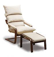 Супер комфорт кресло с пуфом и подлокотниками