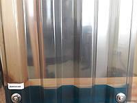 Прозрачный шифер ПВХ Salux 1.8 х 0.9 дымчатый трапеция, фото 1