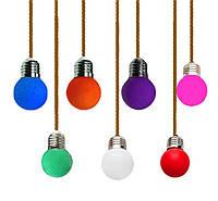 Лампа Lemanso LED G45 E27 1,2W цветной шар / LM705