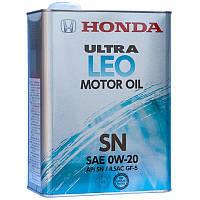 Моторное масло  HONDA Ultra LEO 0W-20 4л