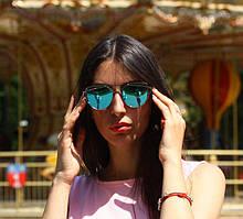 """Женские солнцезащитные зеркальные очки в серебряной оправе """"Dior Monster"""""""