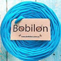 Трикотажная пряжа Bobilon 5-7 мм, цвет бирюзовый