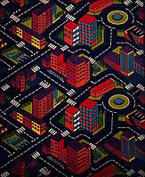 Детский ковер с дорогами Ночной город