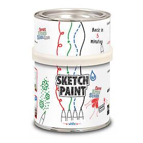 Маркерная краска Sketchpaint белая глянцевая 1 л 6 кв.м