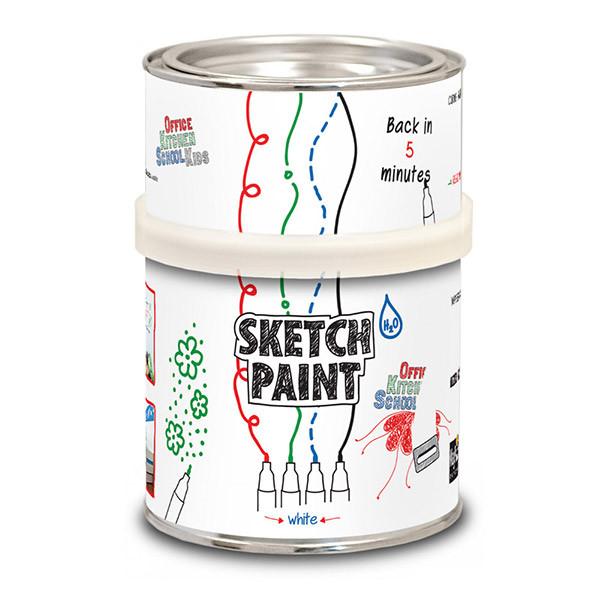 Маркерная краска Sketchpaint белая глянцевая 1 л