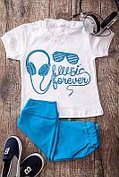 "Костюм ""Music forever"", голубой, размер 28 (2 года)"