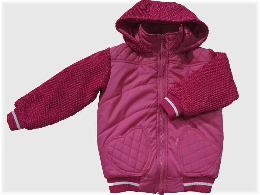 """Детская куртка """"Медвежонок"""" малиновая для девочки VITALIYA"""
