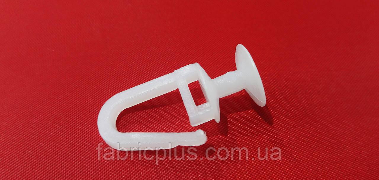 Крючок - грибок  для карниза  U-шина прозрачный