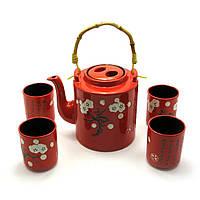 Сервиз керамический чайник ,4 чашки 28х16х12 см