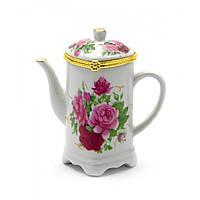 Футляр для зубочисток Чайник сердечко 9х8,5х5 см