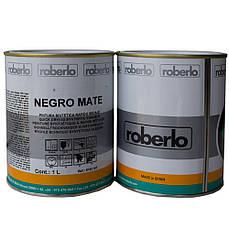 Автоэмаль акриловая черная матовая ROBERLO Negro mate 1л