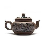 Чайник глина с ситом Дракон 10.5х17х10,5 см