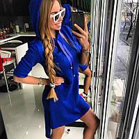 Летнее платье-худи с капюшоном