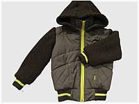 """Детская куртка """"Медвежонок"""" коричневая для мальчика VITALIYA"""