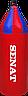 Мешок боксерский шлемовидный 70х21, кожзам, красный, 1222-red