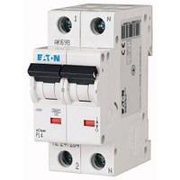 Автоматический выключатель двухполюсный EATON PL4-C50/2 50А