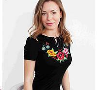ЖІноча футболка-вишиванка на короткий рукав.Р-ри 42-52