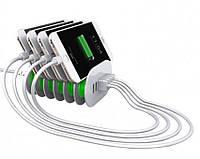 Сетевое зарядное устройство на 6 USB-портов LDNIO A6702, 7A, 1,5 метра кабель, оригинал