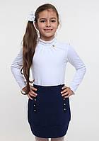 Белый нарядный гольф для девочки ТМ Смил арт. 114525