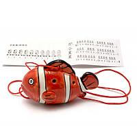 Свистулька керамическая Рыба красная 8,5х6х4 см