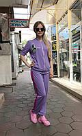 Женский прогулочный костюм Colors of California сиреневый