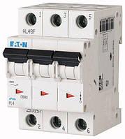 Автоматический выключатель трёхполюсный EATON PL4-C16/3 16А