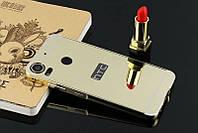 Металлический зеркальный чехол бампер Mirror для HTC Desire 10 Pro (4 цвета )