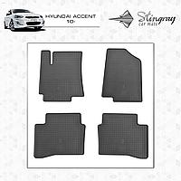 Автомобильные коврики Stingray Hyundai Accent new Solaris 2010-