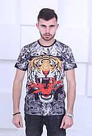 Яркая мужская футболка в стиле  Philipp Plein