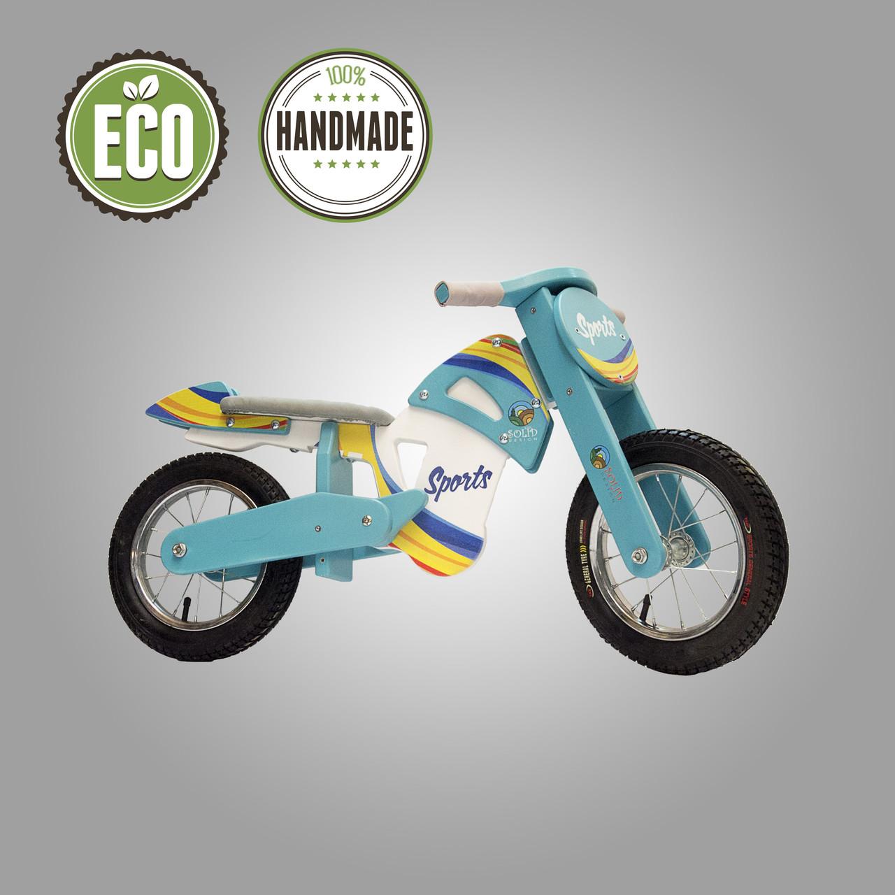 Велобіг (беговел) спортивний серія Flinstone (бірюзовий)