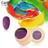 Гель-краска Canni №578 темная пастельно-лиловая