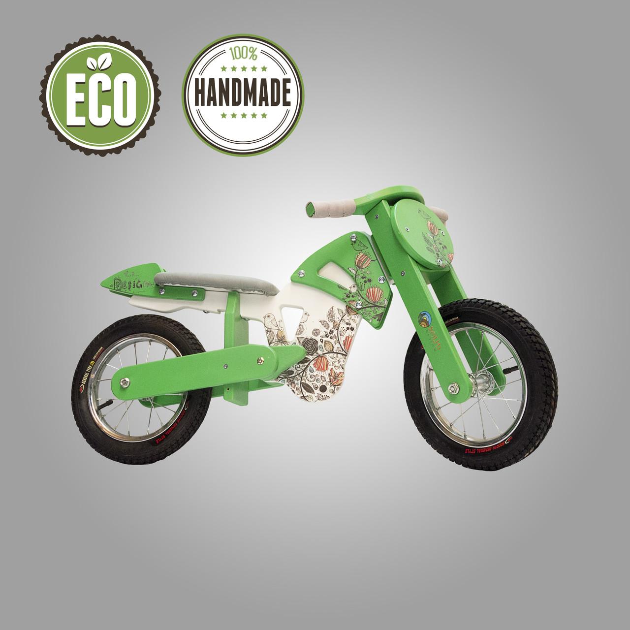 """Велобіг (беговел) спортивний серія """"Flinstone"""" (зелений)"""