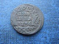Монета полушка Россия 1736