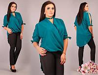 Блузка женская из шифона ассиметричная P6256