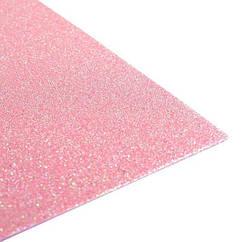 Фоамиран з глітером 2 мм 30 х 20 див. рожевий