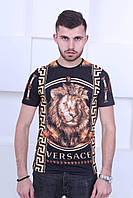 Мужская трендовая футболка  в стиле Versace Lion, фото 1