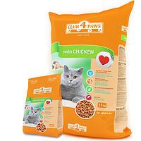 Клуб 4 лапы Сухой корм для кошек с курицей 11кг