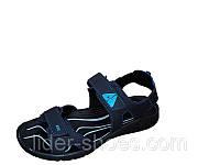 Мужские сандалии синие кожаные