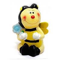 Копилка керамическая Пчелка с Цветком 13х10х8 см