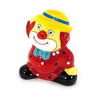 Копилка керамическая Клоун красная 13х10х7 см