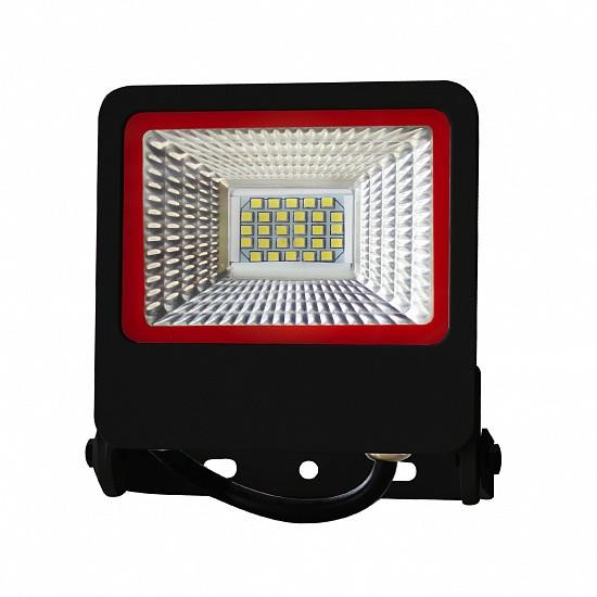 Світлодіодний прожектор EUROELECTRIC SMD чорний з радіатором NEW 20W 6500K