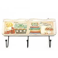 Вешалка для одежды Книги и Цветы 30х16,5х4 см